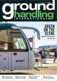 Our Yutong electric airport buses of the cover of June 2019 issue of the magazine Ground Handling International